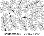 abstract leaves background... | Shutterstock .eps vector #794624140