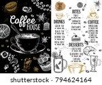 coffee house menu. restaurant...   Shutterstock .eps vector #794624164