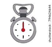 vintage sport chronometer | Shutterstock .eps vector #794624644