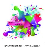 colored abstraction rainbow... | Shutterstock .eps vector #794625064