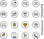 line vector icon set   credit... | Shutterstock .eps vector #794626378