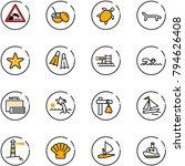 line vector icon set  ... | Shutterstock .eps vector #794626408
