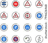 line vector icon set   road... | Shutterstock .eps vector #794626468