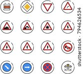line vector icon set   sign... | Shutterstock .eps vector #794626534