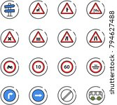 line vector icon set   road... | Shutterstock .eps vector #794627488