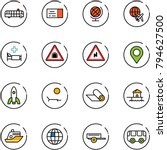 line vector icon set   airport... | Shutterstock .eps vector #794627500