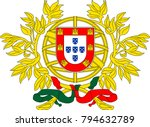 coat of arms of portugal is a... | Shutterstock .eps vector #794632789