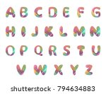 english alphabet design with... | Shutterstock .eps vector #794634883