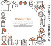 golf club banner or header... | Shutterstock .eps vector #794635483