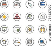 line vector icon set   sign... | Shutterstock .eps vector #794637070