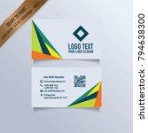 modern business card template   Shutterstock .eps vector #794638300