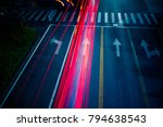 car traffic at night. blur... | Shutterstock . vector #794638543