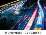 car traffic at night. blur... | Shutterstock . vector #794638564