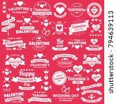 valentine template banner... | Shutterstock .eps vector #794639113