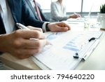 working business people analyse ...   Shutterstock . vector #794640220