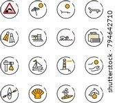 line vector icon set  ... | Shutterstock .eps vector #794642710