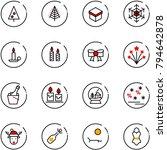 line vector icon set  ... | Shutterstock .eps vector #794642878