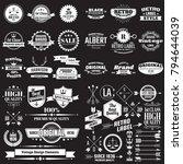 vintage retro vector logo for... | Shutterstock .eps vector #794644039