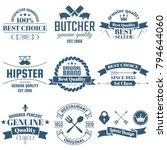 vintage retro vector logo for... | Shutterstock .eps vector #794644060