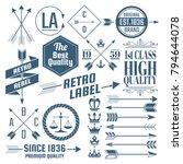 vintage retro vector logo for... | Shutterstock .eps vector #794644078