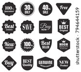 vintage retro vector logo for... | Shutterstock .eps vector #794644159