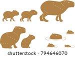 Capybara Family Animal