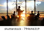 discussing policy of... | Shutterstock . vector #794646319