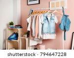 collection of clothes hanging...   Shutterstock . vector #794647228