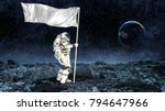pioneer of space. mixed media | Shutterstock . vector #794647966