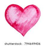 hand drawn painted lovely pink... | Shutterstock . vector #794649406