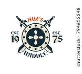middle ages logo  esc 1975 ... | Shutterstock .eps vector #794653348