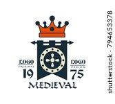 medieval logo  est 1975 ... | Shutterstock .eps vector #794653378