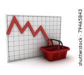 shopping basket against ... | Shutterstock . vector #79465843