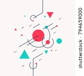 retro abstract geometric... | Shutterstock .eps vector #794659000