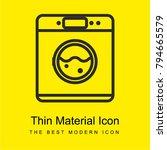 washing machine bright yellow...