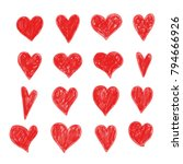 hand draw heart  icon | Shutterstock .eps vector #794666926