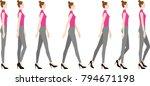 a woman wearing high heels. how ...   Shutterstock .eps vector #794671198