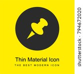 push pin bright yellow material ...
