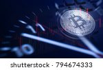 bitcoin  virtual digital money... | Shutterstock . vector #794674333
