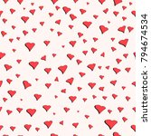 seamless pattern for valentine... | Shutterstock .eps vector #794674534