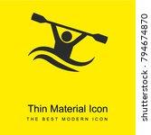 kayak bright yellow material... | Shutterstock .eps vector #794674870