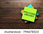 welcome aboard  the phrase is... | Shutterstock . vector #794678323
