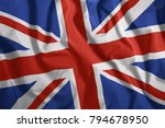 the british flag is flying in... | Shutterstock . vector #794678950