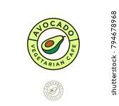 vegetarian restaurant logo....   Shutterstock .eps vector #794678968