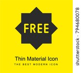 free bright yellow material...