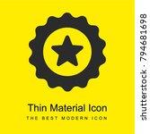 badge bright yellow material...
