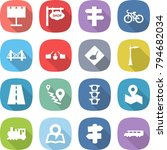 flat vector icon set  ... | Shutterstock .eps vector #794682034