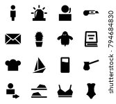 origami style icon set   user... | Shutterstock .eps vector #794684830