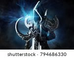 man in a fantasy costume of a... | Shutterstock . vector #794686330