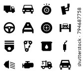 origami style icon set   car... | Shutterstock .eps vector #794687758